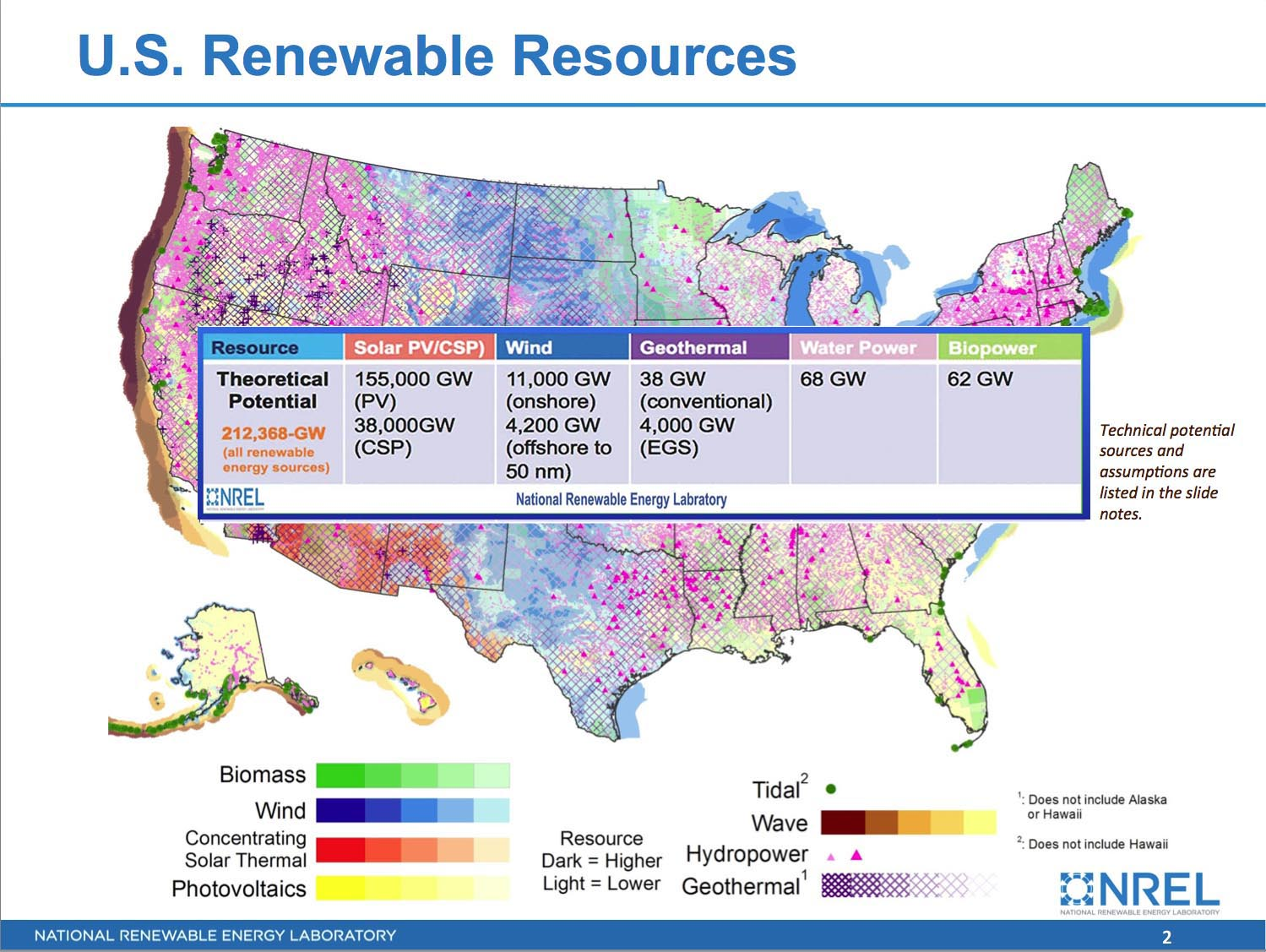 PROJECTS Design Earth Synergy - Renewable energy map us